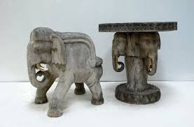 elephant table and chair set
