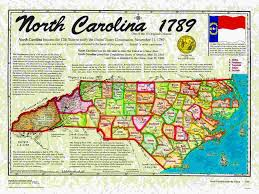 Map Of The 13 Colonies 1790 George Washington North Carolina Ratifies The Constitution