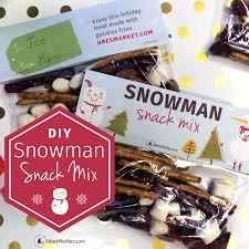 snowman snack mix recipe free printable snowman snack