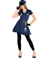 girls cop cutie police officer teens kids child fancy dress