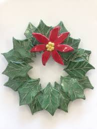 clay holiday wreath adults u0026 teens or age 8 with an the