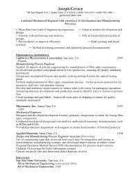 Resume Examples Mechanical Engineer Engineers Resume Sle 28 Images Be Chemical Engineering Resume