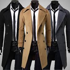 men u0027s trench coat double breasted coat casual styles and trench