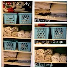 pinterest inspired project organizing the linen closet happy