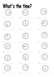 english exercises telling the time