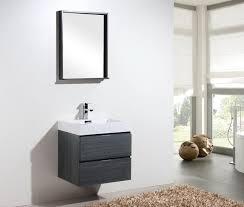 modern wall bliss 24 kubebath high gloss grey oak wall mount modern bathroom