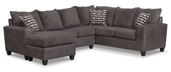 the brando sectional collection smoke value city furniture and patio