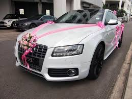 wedding car decorations audi s5 sportback wedding car decoration 1 1 malaysiaflowers