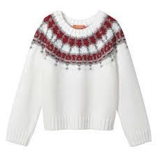 Sweater Toddler Toddler Metallic Fair Isle Sweater In White From Joe Fresh