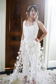 wedding gown designers 10 toilet paper wedding dress designers competition today