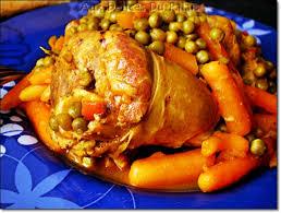 cuisine maghrebine tajine d agneau aux petits pois aux carottes aux delices du palais