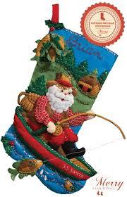 bucilla christmas fishing santa bucilla christmas kit