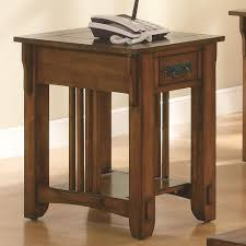 Accent Table With Drawer Accent Table With Drawer And Shelf In Warm Brown Finish