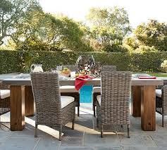 30 wide outdoor dining table abbott chunky leg dining table patios porch and screened porches