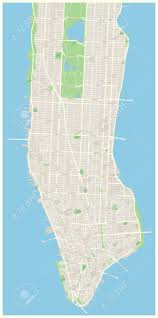 Nyc Neighborhoods Map Highly Detailed Vector Map Of Lower And Mid Manhattan In New