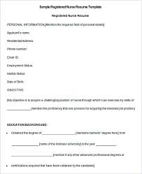 Resume Samples For Registered Nurses by Nurse Resume Template And General Resume Writing Tips