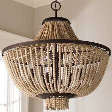 Farmhouse Lighting Chandelier by Beaded Farmhouse Chandelier 6 Light Shades Of Light