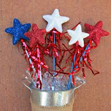 glittery star wands a 4th of july craft