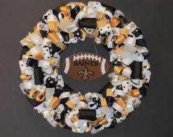 saints ribbon saints wreath etsy