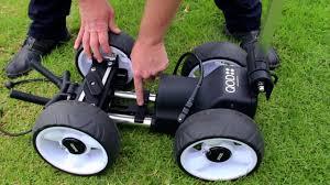 qod electric golf caddy is easy to fold youtube
