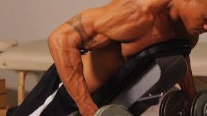 how to do a prone bench row for a back workout howcast the