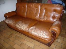 renover canape cuir achetez canapé cuir bois 3 a rénover annonce vente à toulouse 31