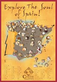 Map Spain Spanish Cheese Map Oceansworld International Food Guide