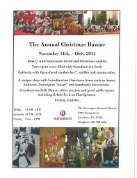 norwegian christmas bazaar the norwegian society of texas