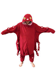 Halloween Usa Costumes Red Octopus Pajama Costume