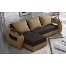 2 Armchairs Sofa Bed And 2 Armchairs Set Moderno In Brown Fabric