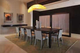 dining room lighting concept ideas over high gloss furnished