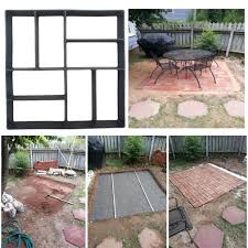 Cleaning Concrete Patio Mold Paving Pavement Concrete Stepping Driveway Stone Path Mold Patio