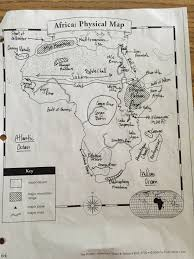 africa map review mr hammett world geography march 2016