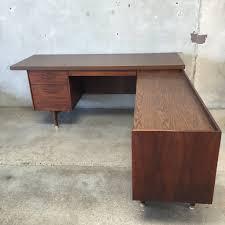 Mid Century Desk Mid Century Desk With Return U2013 Urbanamericana