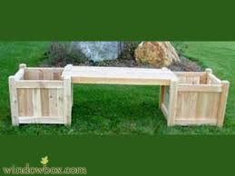 cedar garden benches outdoor planters seating