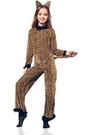 Girls Cheetah Halloween Costume Amazon Charades Child U0027s Cheetah Cat Costume Jumpsuit