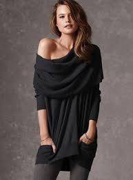 Multi Way Sweater Can Wear As Cowl Neck Off The Shoulder Hoodie