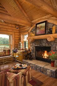 log home photos fireplaces u0026 special spaces u203a expedition log