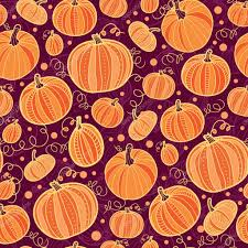 thanksgiving pumpkins seamless pattern background stock vector