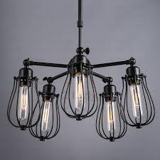Primitive Light Fixtures 5 Light Fan Shaped Industrial Light Fixtures