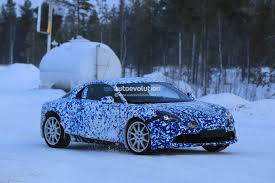 alpine a106 alpine a120 prototype gets rally style wheels for arctic circle