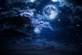 moon and clouds in the wall mural pixers we live to change