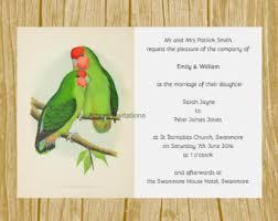 Love Bird Wedding Invitations Love Bird Invitation Etsy