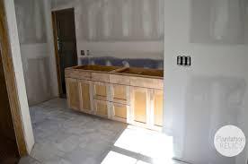 master and shared bathroom custom cabinets flip 1