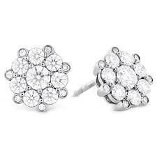 diamond stud earring beloved cluster diamond stud earrings