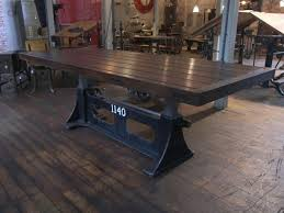 Dining Room Furniture Made In Usa Vintage Industrial Adjustable Wood Cast Iron Table Made In Usa
