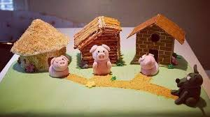 huff puff pigs wolf cakes
