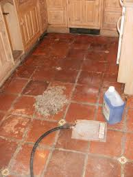 kitchen floor cleaning machines kitchen terracotta floor transformed in london stone cleaning
