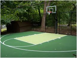 Backyard Basketball Court Ideas by Backyards Cozy Back To Post Backyard Basketball Court Size 129
