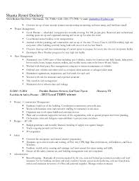 resume number of pages dockery facilities property management v2